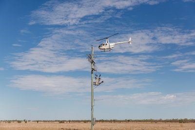 Queensland Helicopters - power pole