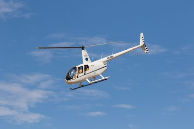 Queensland Helicopters - in flight for service trip