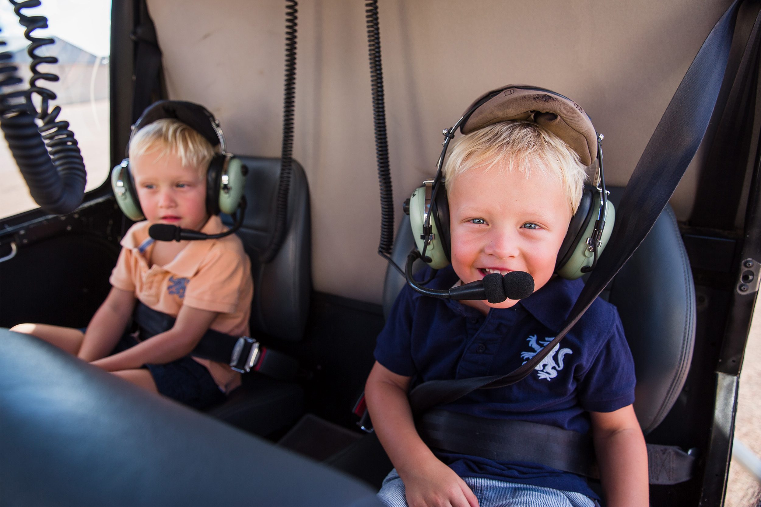 Queensland Helicopters - certificate and safety - ready for take off