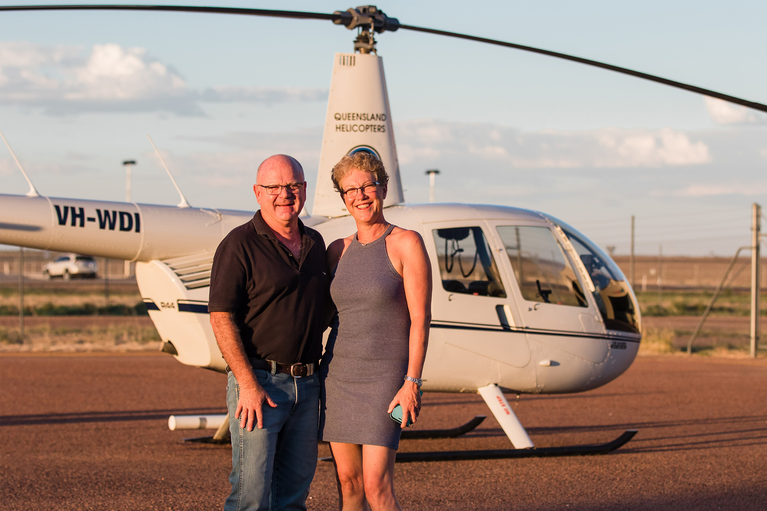 Queensland Helicopters - testimonials - happy couple